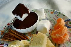 What A Dish!: Chocolate Fondue + Yummy Pound Cake Recipe