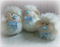 Lembrancinha ovelha bolinha