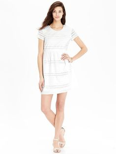 Women's Eyelet Dresses in Bright White