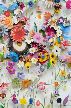 Beautifully blossoming flower art collages grow out of the canvas | Creative Boom