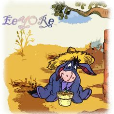 something i did with eeyore, trying out different things in PSP6.