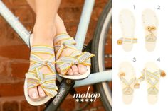 Slide Styling Card for Mohop interchangeable ribbon sandals.