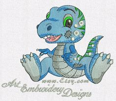 "T-Rex Dino - Machine Embroidery Designs Set for a Babies and Children of a series ""Old Toy"""
