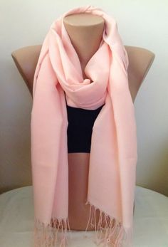 A personal favorite from my Etsy shop https://www.etsy.com/listing/185557714/light-pink-scarffringed-scarf-stylish