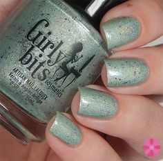 Seaspark is a custom exclusively available at Mei Mei's Signatures. A fluid sea green holo studded with lavender glitter. Gorgeous!!! Check out more swatches of Seaspark and the companion polish, Ocean Jewel, at Cosmetic Sanctuary. Available now!
