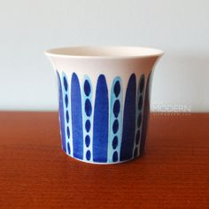 vintage Arabia Finland Rare Blue Dots Lines Pattern Jar by alamodern Line Patterns, Textures Patterns, Rhapsody In Blue, Dotted Line, Pottery Painting, Ceramic Cups, Beauty Art, Scandinavian Design, Light In The Dark