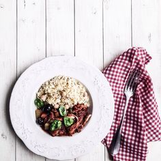 but hearty w/ & black accompanied with and by Chickpeas, Olives, Risotto, Rabbit, Tasty, Lunch, Seasons, Homemade, Healthy