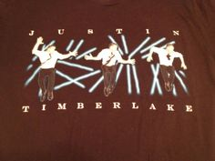 Justin Timberlake 2007 FutureSex/Love Show Adult T-Shirt 2-sided Size M…