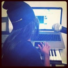 This is new for Young Lyric making a song.