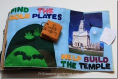 gold plates and temple quiet book pages