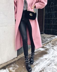 Pink trench.