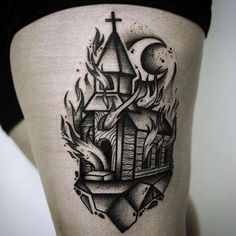 观看 @blackworkers_tattoo 发布的照片 · 5,370 次赞 Rabe Tattoo, Chicanas Tattoo, Occult Tattoo, Cover Tattoo, Black Tattoo Art, Tattoo Flash Art, Black And Grey Tattoos, Church Tattoo, Traditional Black Tattoo