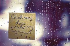 rainy days = writing or reading days = <3