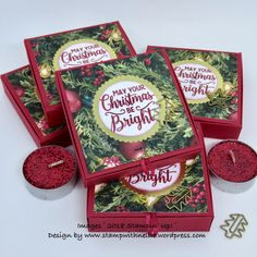 Christmas Tealights Box – featuring All Is Bright from Stampin' Up! – Stamp with Nellie Christmas Craft Fair, Christmas Favors, Diy Christmas Cards, Stampin Up Christmas, Christmas Paper, Christmas Projects, Christmas Crafts, Christmas Boxes, Christmas Pizza