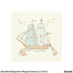 Beautiful Sailing Boat Wrapped Canvas