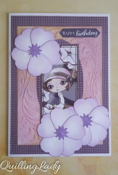 Quilling Lady: Verity rose cards with a pilot and flowers