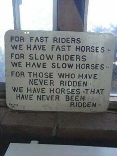 Horse-riding humor