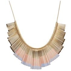 Dana Fan Enamel Necklace ($46) ❤ liked on Polyvore featuring jewelry, necklaces, accessories, joias, acessorios, enamel necklace, enamel jewelry, snake chain necklace, statement necklace and bib statement necklace