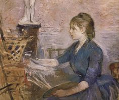 A beautiful painting by Berthe Morisot,1889, an often overlooked but wonderful female impressionist.