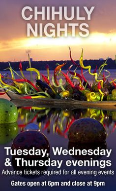 Dallas Arboretum and Botanical Garden Chihuly at Night until Nov. 5th
