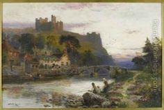 Richmond Castle Oil Painting - Walker Stuart Lloyd