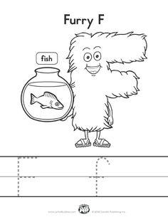 Letter Buddies Coloring Worksheet: F