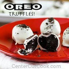 Oreo Balls piano recital reception food (maybe do some that are white, black, and red)