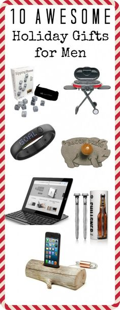 Must pin!  10 great gift ideas for men!  You can find something for even the men in your life that are difficult to shop for!  #mangifts #giftideasformen
