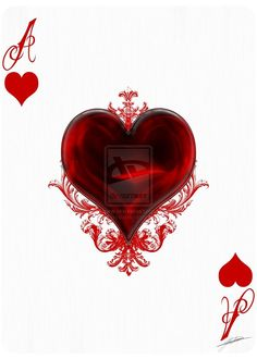 Ace of Hearts by Play-Nice on DeviantArt Eagle Wallpaper, Lion Wallpaper, Heart Wallpaper, Cute Wallpaper Backgrounds, Cute Wallpapers, Ace Of Spades Tattoo, Card Tattoo Designs, Playing Cards Art, Ace Of Hearts