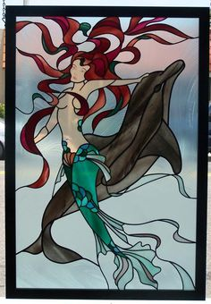 mermaid patterns stained glass patterns | Mermaid
