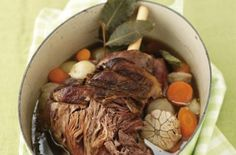 Seven-hour pot roast lamb Indulge the family with this slow-roasted leg of lamb, cooked for seven-hours with shallots, carrots, garlic and herbs.