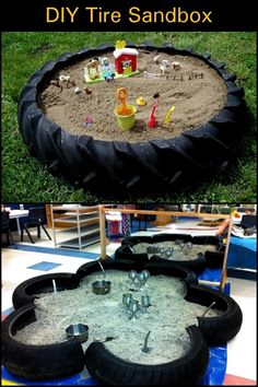 A Weekend Backyard Project Using an Old Tractor Tire. A Weekend Backyard Project Using an Old Tractor Tire. Kids Outdoor Play, Outdoor Play Areas, Backyard For Kids, Backyard Projects, Diy For Kids, Backyard Ideas, Kids Play Yard, Outdoor Spaces, Garden Ideas