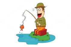 lucky fisherman by zetwe shop on Creative Market