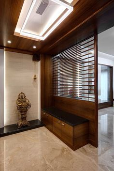Entrace foyer: corridor & hallway by cubism - Couloir Living Room Partition Design, Living Room Divider, Pooja Room Door Design, Room Partition Designs, Living Room Tv Unit Designs, Foyer Design, Home Room Design, Home Interior Design, Home Entrance Decor