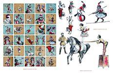 Adorable Vintage Circus Image Kit! Graphics Fairy Premium Membership - The Graphics Fairy