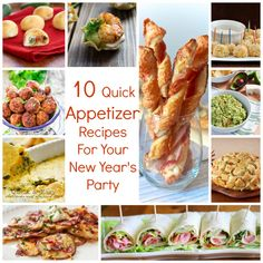10 Quick Appetizer Recipes For Your New Year's Party – Edible Crafts New Years Appetizers, Quick Appetizers, Appetizers For Party, Appetizer Recipes, Party Appetisers, Great Recipes, Favorite Recipes, Best Party Food, Quick Easy Dinner