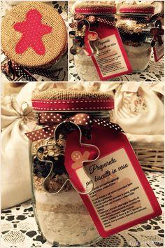 Biscotti in barattolo - idea originale regalo - Home Made Rossella&Co.