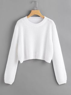 SheIn offers Loose Fit Crop Jumper & more to fit your fashionable needs. SheIn offers Loose Fit Crop Jumper & more to fit your fashionable needs. Crop Pullover, Cropped Sweater, Long Sleeve Sweater, Pullover Sweaters, Loose Sweater, Cropped Jumpers, Women's Sweaters, Teen Fashion Outfits, Look Fashion