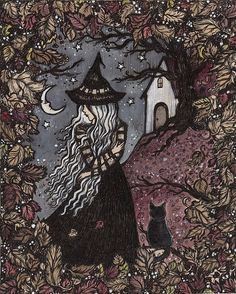 Whispers of a cold to come Fantasy Witch Strega Art And Illustration, Under Your Spell, Arte Obscura, The Good Witch, Witch Art, Witch Aesthetic, Halloween Art, Dark Art, Art Inspo
