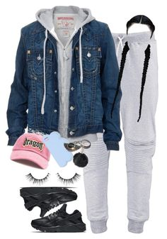 A fashion look from January 2017 featuring True Religion jackets, NIKE shoes and STELLA McCARTNEY tech accessories. Browse and shop related looks. Lit Outfits, Cute Swag Outfits, Chill Outfits, Teen Fashion Outfits, Dope Outfits, Outfits For Teens, Trendy Outfits, Winter Outfits, Teenager Outfits