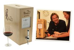 hand selected wines form The 20 in eco friendly boxes, eliminating corks & bottles premium wine prices are  at 25 - 50 %