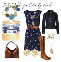 """""""Fallin' Birdie for Color By Amber"""" by crrynnugent on Polyvore www.stylingwithcolor.mycolorbyamber.com"""