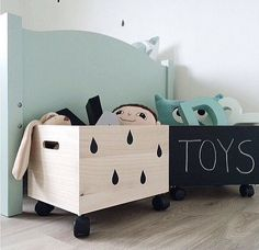 With an 18 month old we have learnt cute storage is key