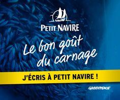 De la surexploitation des océans - Petit Navire s'approvisionne en thon pêché avec des méthodes destructrices. Signez la pétition pour lui demander de cesser ce carnage !