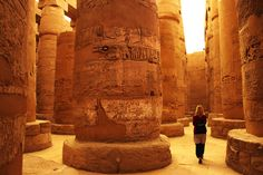 Karnak Temple In Luxor, Egypt. Tourist walks through the ancient Karnak temple i , Places In Egypt, Visit Egypt, Valley Of The Kings, Pyramids Of Giza, Luxor Egypt, Day Tours, Photo Galleries, Africa, City