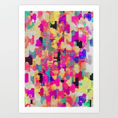 Neon Tambourine Art Print by Georgiana Paraschiv - $18.00