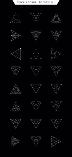 Drawing On Creativity Geometry: 24 Triangles by kloroform on Creative Market - Tips to care for your new color tattoo Tattoos make a statement without saying a word and generally last a lifetime. Taking care of your new colour tattoo is a Line Art Tattoos, Body Art Tattoos, Tattoo Art, Tattoo Abstract, Glyph Tattoo, Gun Tattoos, Abstract Art, Word Tattoos, Geometric Lines