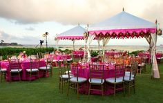 hot pink bouquets for weddings | ... hot pink wedding decor outdoors in ... | Wedding Flowers