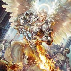 Legend of the cryptids legend of the cryptids fantasy art angels, angel w. Fantasy Warrior, Fantasy Girl, Angel Warrior, Fantasy Art Women, Beautiful Fantasy Art, Dark Fantasy Art, Fantasy Artwork, Fantasy Character Design, Character Art