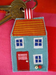 Cute felt and fabric keyring.